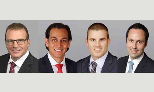 ushman & Wakefield executive director Scott O'Donnell, managing director Dominic Montazemi, senior associate Greg Miller and director Miguel Alcivar.