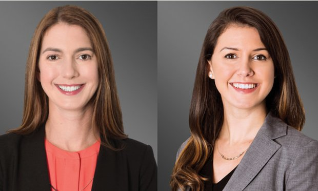 Kimberly S. LeCompte, left, and Stephanie Jimenez, right, of Greenberg Traurig.