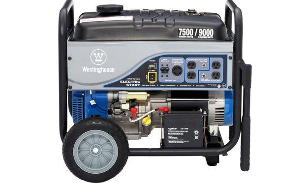 Westinghouse 7,500-Watt gasoline-powered electric start portable generator with battery/courtesy photo