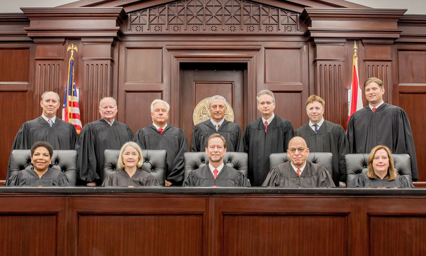 Fourth District Court of Appeal judges, in West Palm Beach. Courtesy photo.