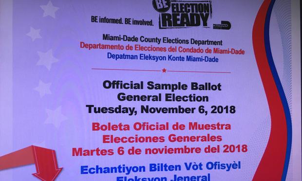 Multilingual sample ballot for November 2018 general election.