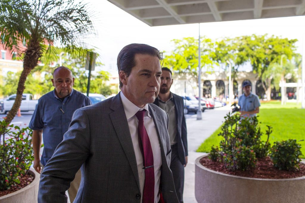 CraigWright, self declared inventor of Bitcoin, arrives at federal court in West Palm Beach, Florida, U.S., on Friday, June 28, 2019. Photographer: Saul Martinez/Bloomberg