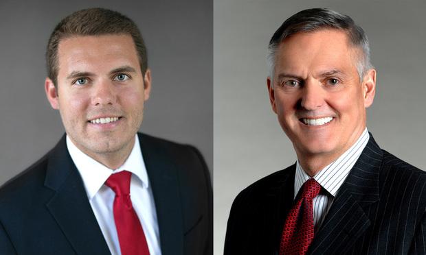 Kyle Diamantas, Baker Donelson associate in Orlando and Samuel L. Felker, Baker Donelson managing shareholder in .Fort Lauderdale(Photo: Courtesy Photo)