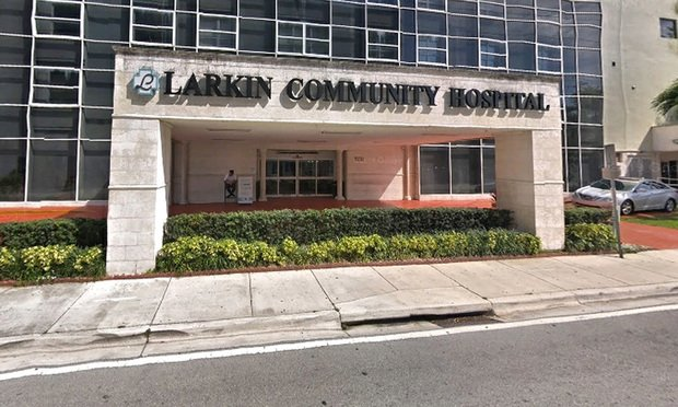 Larkin Community Hospital in South Miami. Credit: Google