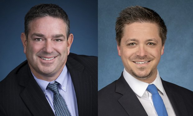 Bruce Liebman, Florida Co-Managing Partner of Kaufman Dolowich & Voluck in Fort Lauderdale, left, and Kevin Yombor, attorney with the firm's Fort Lauderdale office, right.
