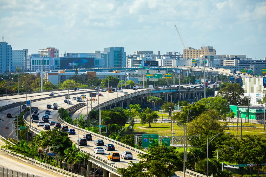 Miami Airport Expressway. Photo: Mia2you/Shutterstock.com