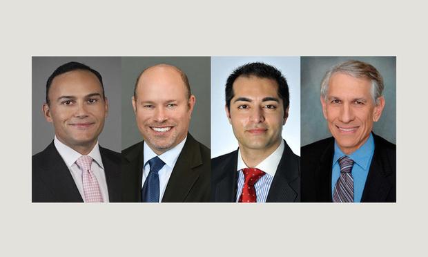 L-R: Julian Montero, Roger Bernstein, Rohit Kapuria, and Ronald Fieldstone.