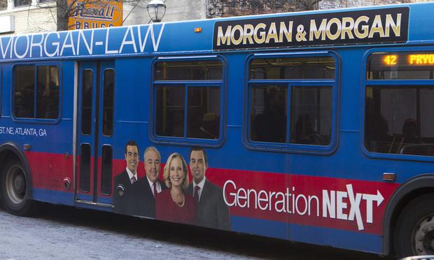 Morgan & Morgan bus ad