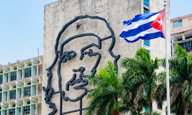 A Cuban government building beside Revolution Square in Havana