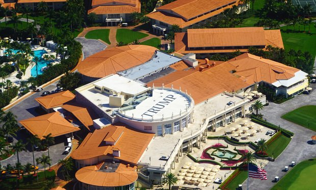 Aerial view of the Trump National Doral Miami, a luxury resort hotel and golf course belonging to U.S. President Donald Trump. Credit: EQRoy/Shutterstock.com.
