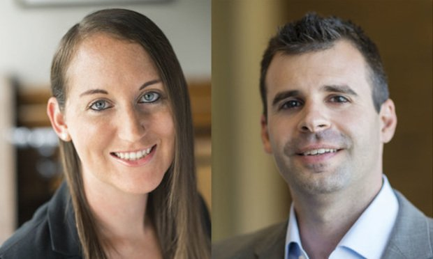 Kimberly Wald, left, and Eric Rosen, right. Courtesy photos.