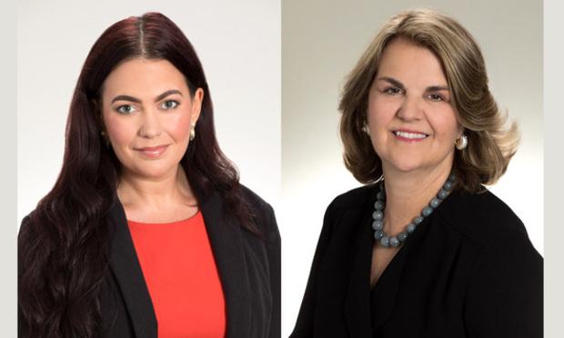 Lindsay Massillon, left, and Elizabeth Pryor Johnson, Fowler White Burnett