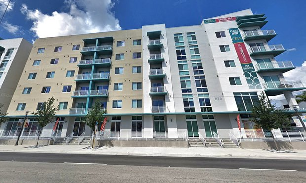 A street view of the ORA Flagler Apartments in downtown Fort Lauderdale. Credit: Google