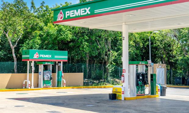 Pemex gas station in Puerto Morelos, Mexico. Photo by Playa del Carmen/Shutterstock.com Keywords