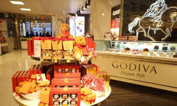 Godiva store in Macy's Herald Square in Manhattan.