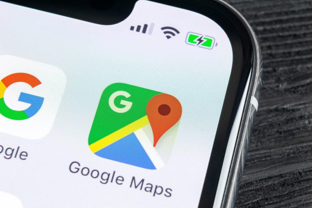 Google Maps. Credit: BigTunaOnline/Shutterstock.com