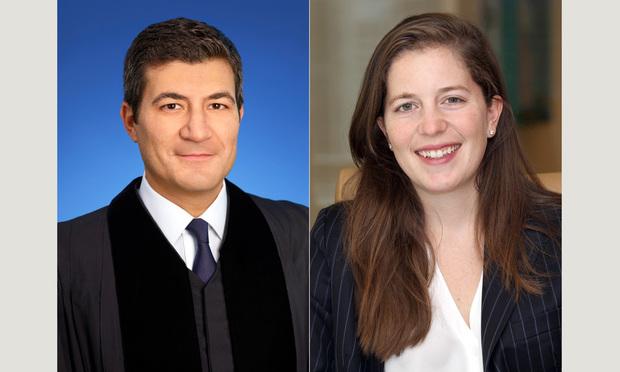U.S. District Judge Rodolfo Ruiz and law clerk Fabiana Cohen