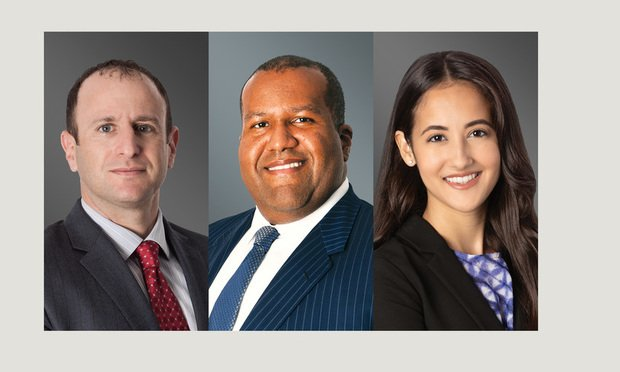 Greenberg Traurig shareholders Drew Altman and Jaret Davis as well as associate Rosy Aleman in Miami.