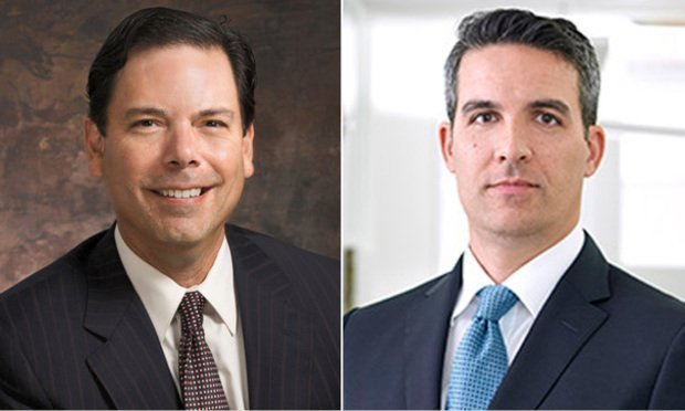 Javier R. Rodriguez of Saul Ewing Arnstein & Lehr in Miami and Christopher B. Spuches founding partner of Agentis. Courtesy photos.