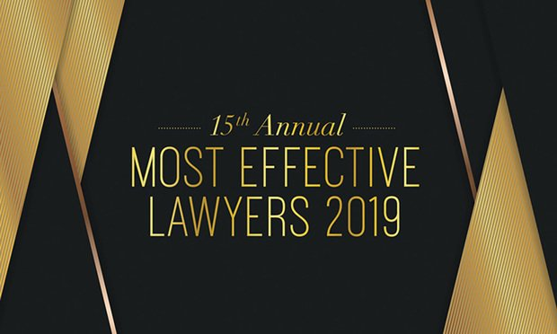 15th Annual Most Effective Lawyers 2019 logo