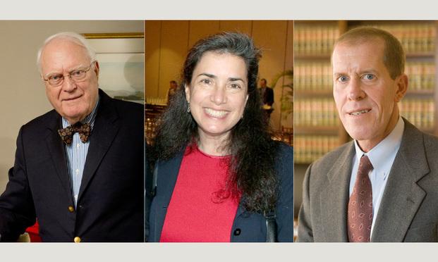 L-R Judge Gerald Tjoflat, Judge Robin Rosenbaum and Judge William Pauley III. Courtesy photos.