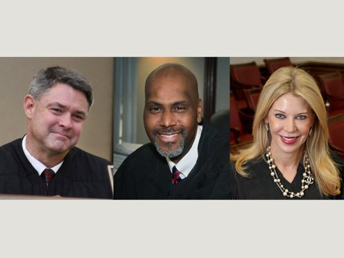 L-R: Judge Edwin A. Scales, Judge William Thomas, and Judge Bronwyn C. Miller. Photos: J. ALbert Diaz/ALM.