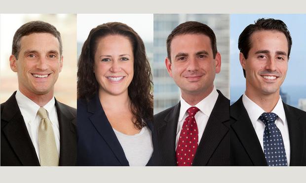 James Baldinger, Jennifer Yasko, Aaron Weiss and Steven Blickensderfer, Carlton Fields.
