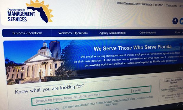 Florida Department of Management Service website.