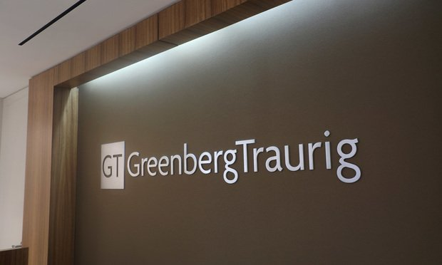 Greenberg Traurig office sign