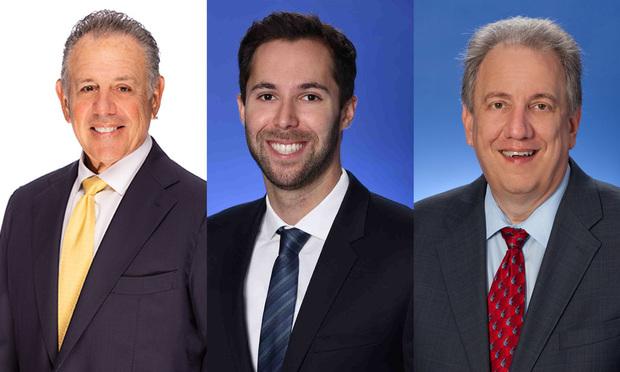Abbey Kaplan, Kluger, Kaplan, Silverman, Katzen & Levine shareholder; Michael Bild and Richard Sarafan, Genovese Joblove & Battista.