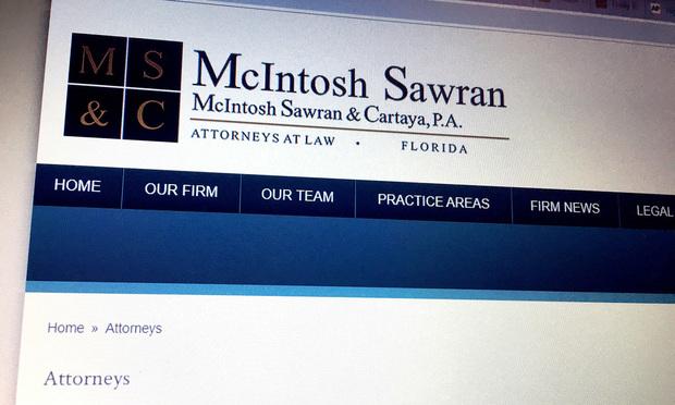 McIntosh Sawran & Cartaya website.
