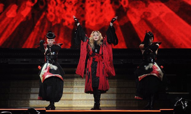Madonna perfoms on stage Photo: Shutterstock.com.