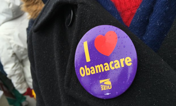 """I Love Obamacare"" button"