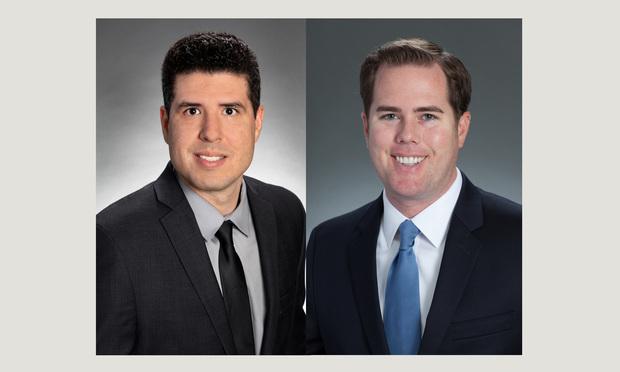 Andrew M. Gordon, left, Daniel Eric Gonzalez,right, of Hinshaw & Culbertson and,