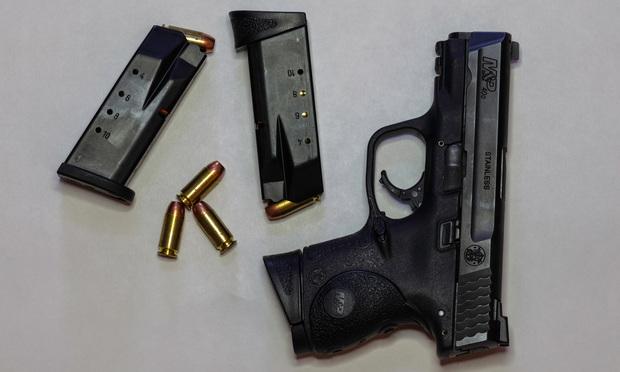 Smith & Wesson .40- caliber M&P pistol with magazines and ammunition/courtesy photo