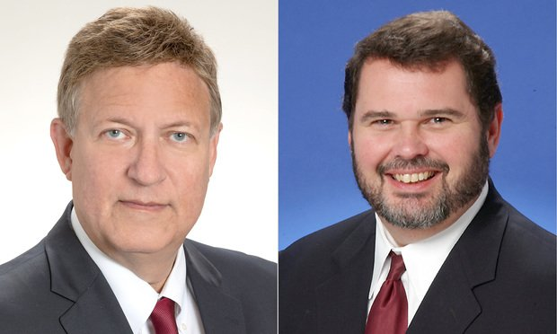 From left, Walter Latimer, shareholder at Fowler White Burnett in Miami, and Edward Briscoe, a managing shareholder, represented defendants in a products liability case before the Fourth DCA. Courtesy photos.