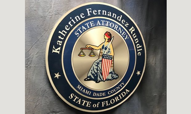 Office of Miami-Dade State Attorney Katherine Rundle. Photo: Raychel Lean/ALM.