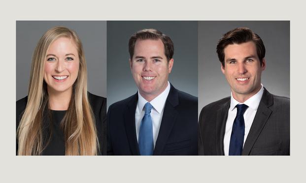 From left: M. Megan Coughlin, Andrew M. Gordon and Nicholas R. Bixler of Hinshaw & Culbertson.