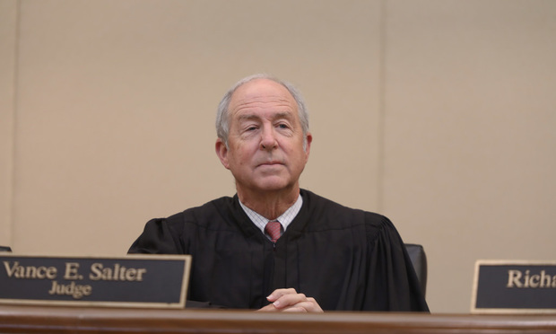8/25/17- Miami- Judge Vance E. Salter, Third District Court of Appeal of Florida.