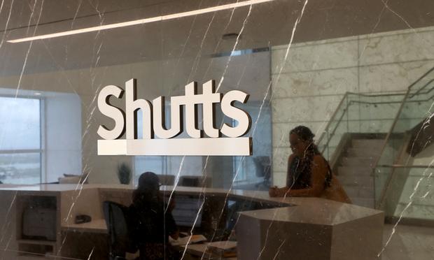 7/13/17- Miami- Shutts & Bowen logo in Miami office. Photo: J. Albert Diaz/ALM