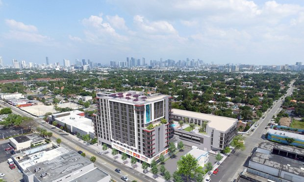 A rendering of Lissette Calderon's third multifamily project in Miami's Allapattah, a 237-unit building at 1470 NW 36th St.