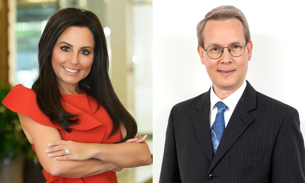Robin Bresky and Randall Burks, The Law Offices of Robin Bresky, Boca Raton. (Photo: Courtesy Photo)