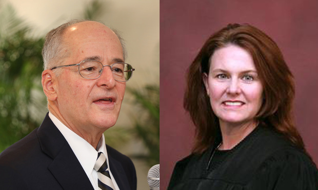 From left: Justice Charles T. Canady and Judge Lisa Taylor Munyon.