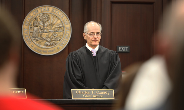 9/5/18- West Palm Beach- Florida Supreme Court Justice Charles T. Canady.