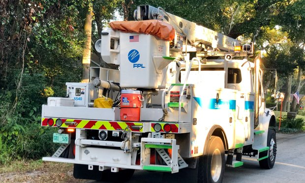 Florida Power & Light truck in Saint Augustine/courtesy photo