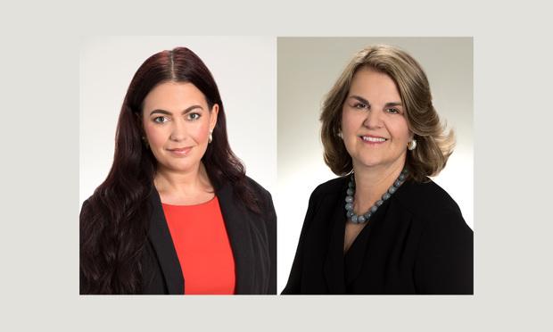 Lindsay M. Massillon, left, and Elizabeth Pryor Johnson, right, of Fowler White Burnett.