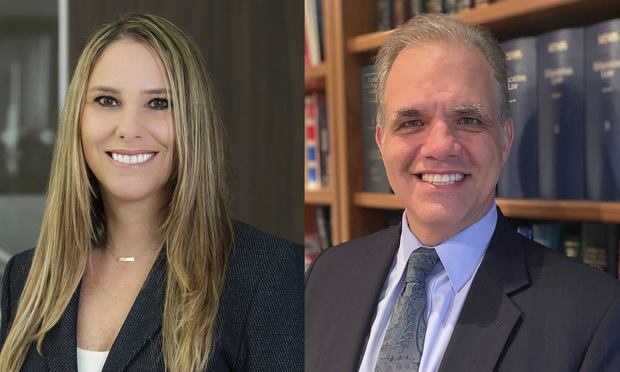 Stacie J. Schmerling, partner at Kelley Kronenberg in Fort Lauderdale, left, and Matthew W. Dietz, litigation director of Disability Independence Group in Miami, right.