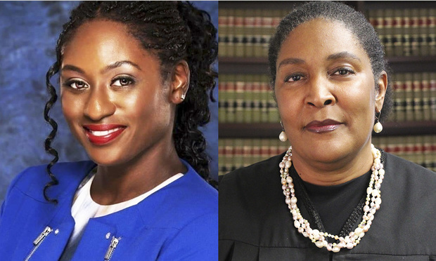 Jaianna Seaborne of the Law Offices of JR Seaborne in Hollywood, and incumbent Judge Debra Moses Stephens. Both are running for Palm Beach County Court Judge, Group 12. Courtesy photos.