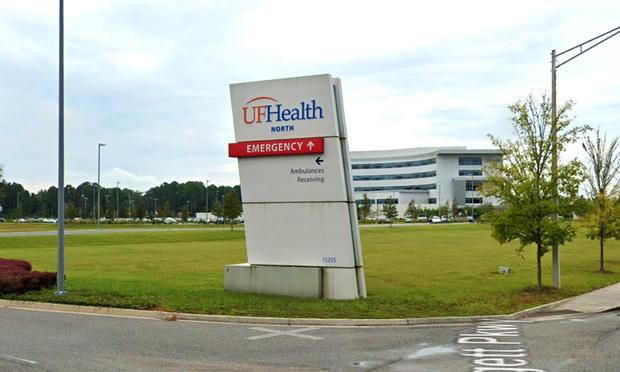 UF Health Jacksonville, Florida.