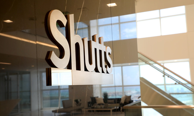 Shutts & Bowen signage
